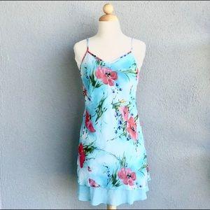 Blue Floral Dress Size M